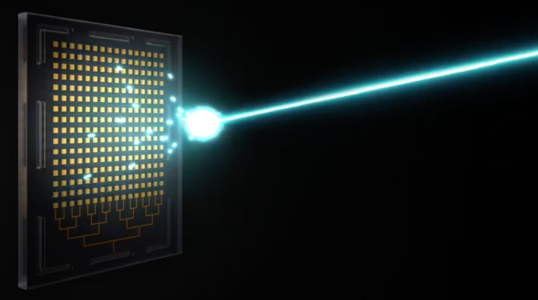 光学相控阵示意图 图片来源:Quanergy公司